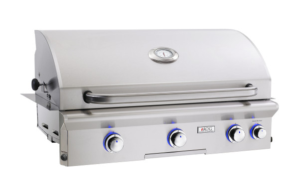 AOG 36NBL L-Series 36-Inch Built-In Gas Grill With Rotisserie & Interior Halogen Lighting