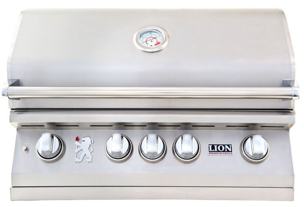 Lion 75625 Or 75623 32-Inch Stainless Steel Built In Propane Or Natural Gas Grill