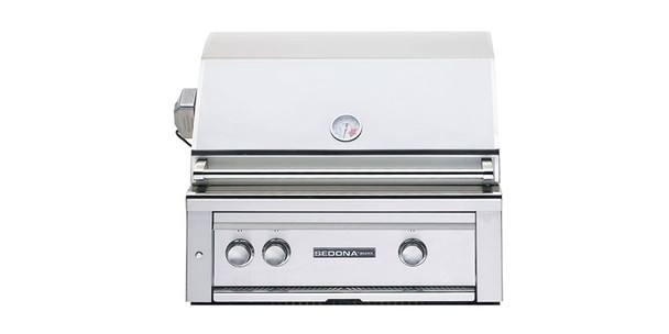 Sedona By Lynx L500PSR 30-Inch Gas Grill - Built-In BBQ Gas Grill With One Infrared ProSear Burner, One Stainless Steel Burner, And Rotisserie