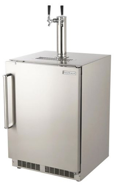 Fire Magic 3594-DR 24-Inch Right Hinged Outdoor Built-In Dual Tap Stainless Steel Kegerator