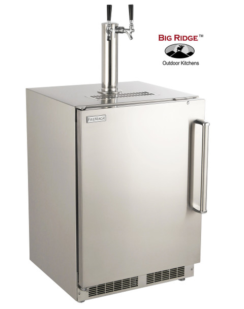 Fire Magic 3594-DL 24-Inch Left Hinged Outdoor Built-In Dual Tap Stainless Steel Kegerator