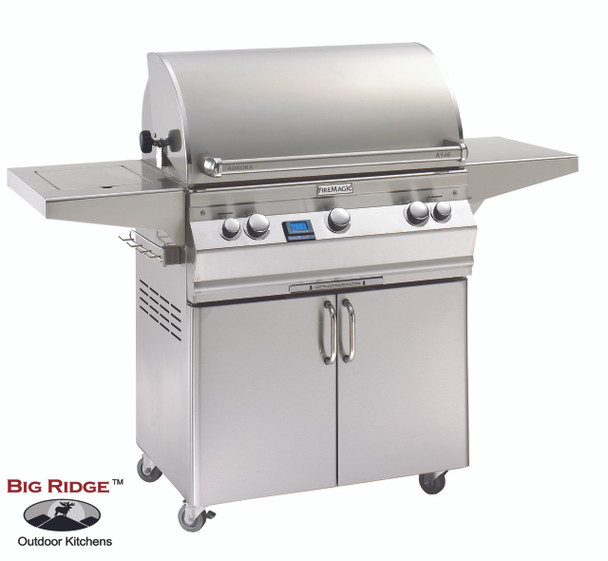 Fire Magic A540s-5EAN-62 Aurora Gas Grill With Single Side Burner On Cart