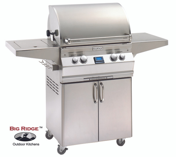 Fire Magic A430s-5EAN-62 Aurora Gas Grill With Single Side Burner On Cart
