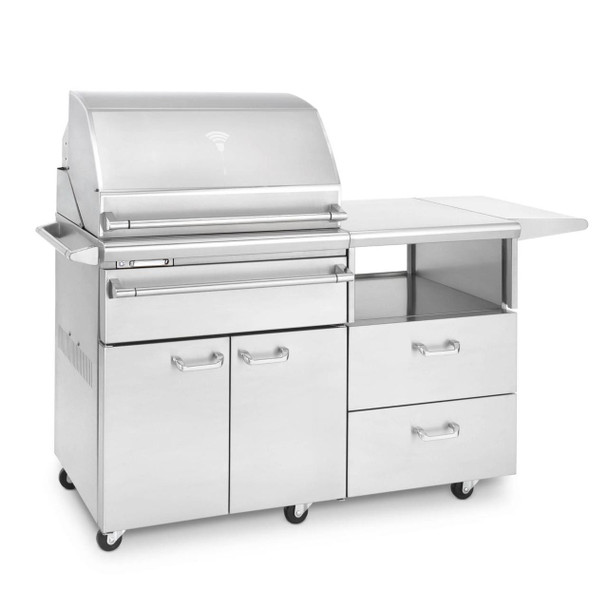 Lynx Professional Sonoma Built-In  Propane Or Natural Gas Smoker on Mobile Kitchen Cart