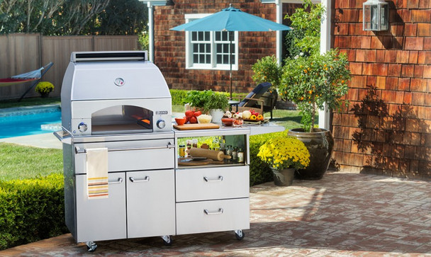Lynx LPZAF Professional Napoli Propane Or Natural Gas Pizza Oven on Cart