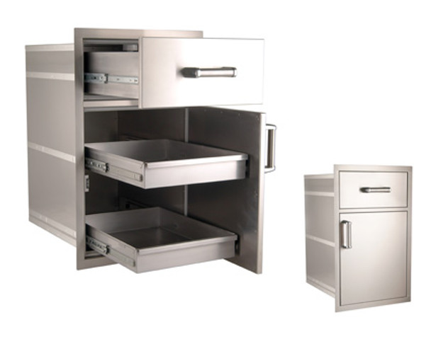 Fire Magic 54020S Premium Large Pantry Drawer/Door Combo