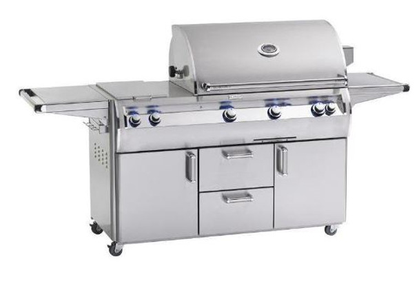Fire Magic E790s-4EAN-71 Echelon Diamond 36-Inch Gas Grill With Analog Thermometer, Double Side Burner, Wood Chip Smoker Drawer, & Rotisserie Backburner On Cart + Optional FREE Infrared Burner!