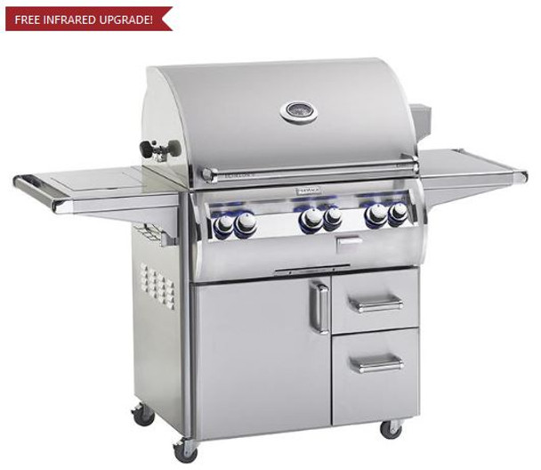 Fire Magic E660s-4EAN-62 Echelon Diamond 30-Inch Freestanding Gas Grill With Analog Thermometer