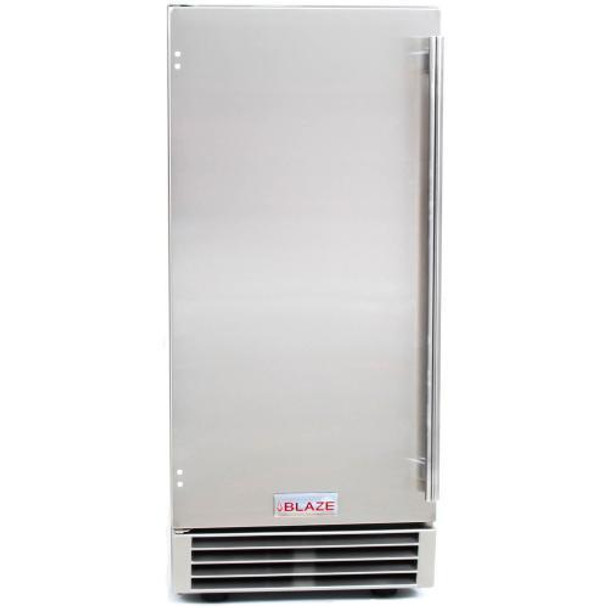 Blaze BLZ-ICEMKR-50GR  50 Lb. 15-Inch Built-In Or Freestanding Stainless Steel Outdoor Ice Maker With Gravity Drain