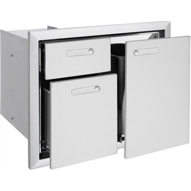 Lynx LTA30 Professional 30-Inch Trash Center And Double Drawers