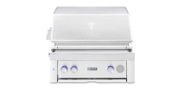 """Lynx SMART30 30"""" Built-in Propane Or Natural Gas SmartGrill With Rotisserie"""