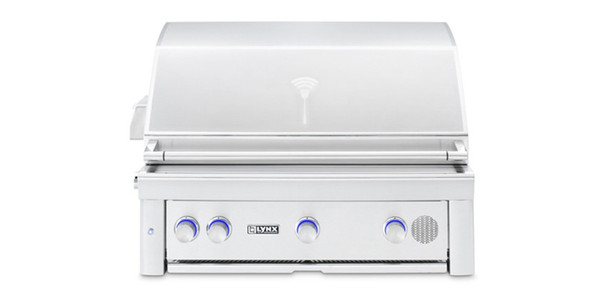 """Lynx SMART36 36"""" Built-In Propane Or Natural Gas SmartGrill With Rotisserie"""