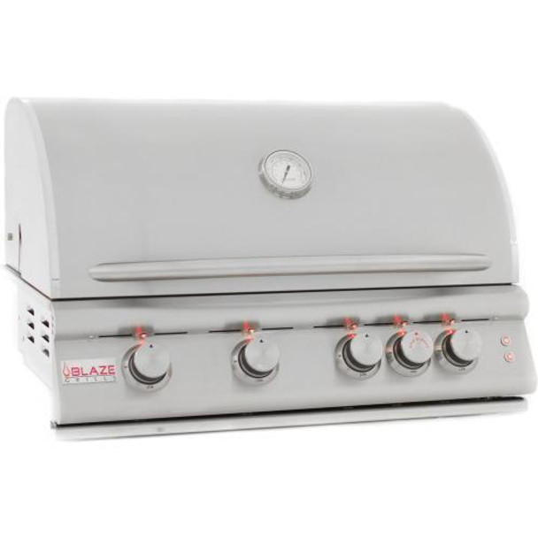 Blaze BLZ-4LTE LTE 32-Inch 4-Burner Built-In Propane Or Natural Gas Grill With Rear Infrared Burner & Grill Lights