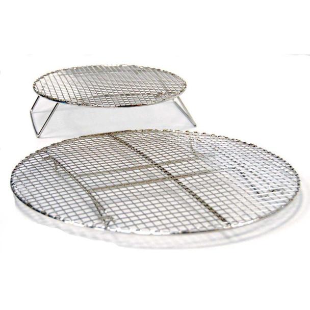 Evo 12-0117-AC Circular Stainless Roasting & Baking Racks - Set Of 2 Sizes
