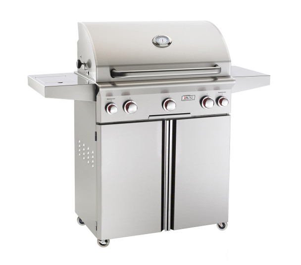 AOG 30PCT T-Series 30-Inch Gas Grill On Cart With Rotisserie & Single Side Burner