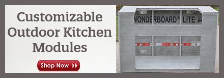 Custom Outdoor Kitchen Modules