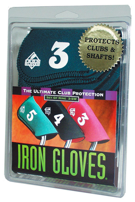 """""""Iron Glove"""" Club Covers...Set of 9 Covers #3-S/W,"""