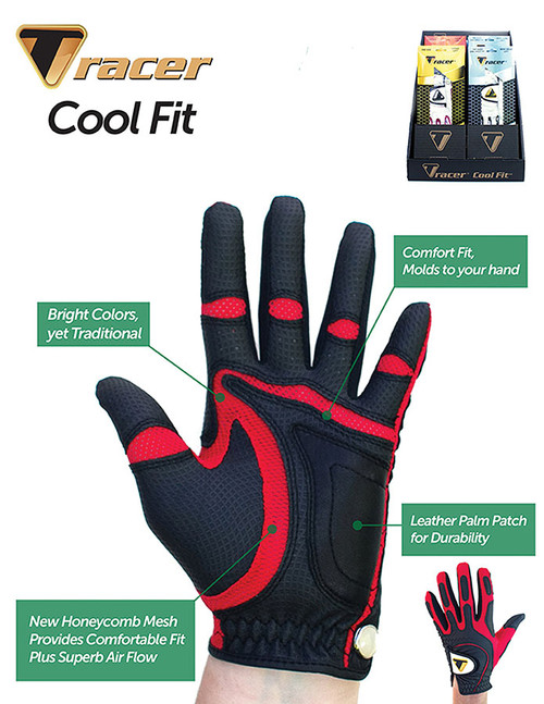 """""""Tracer"""" Cool Fit Golf Glove, Exceptional Price, Sizes In Description  Below"""