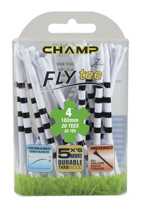 """Flytee""  4"" My Hite Striped, 20 Pack, White w/Black Stripe Only"
