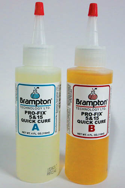 """""""Brampton"""" Epoxy 5/15, 4 oz A&B Bottles, 5-8 min set, cures in 15, Playable in 20-30 minutes."""