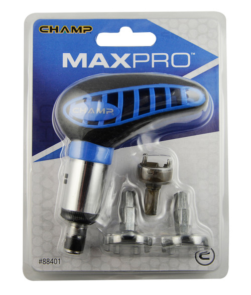 """""""MaxPro"""" Spike Wrench,  Ratchet style, Includes 3 bits for any style spike."""