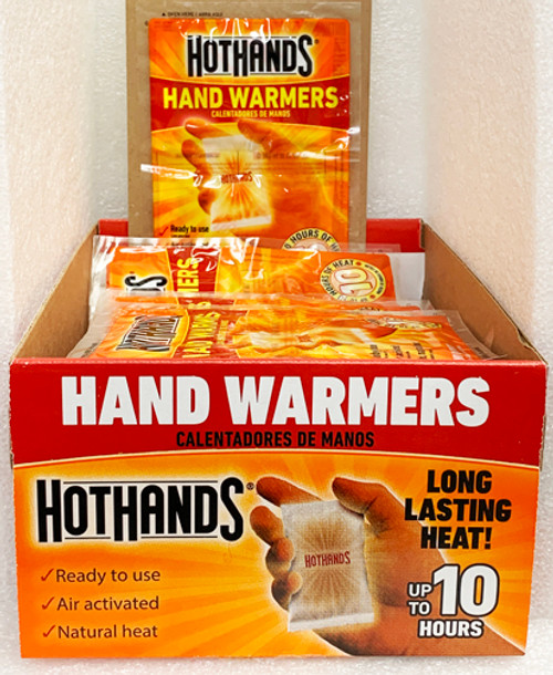 """""""Hot Hands"""" Hand Warmers,  Up to 10 hours of heat.  Box of 40 2-Packs"""