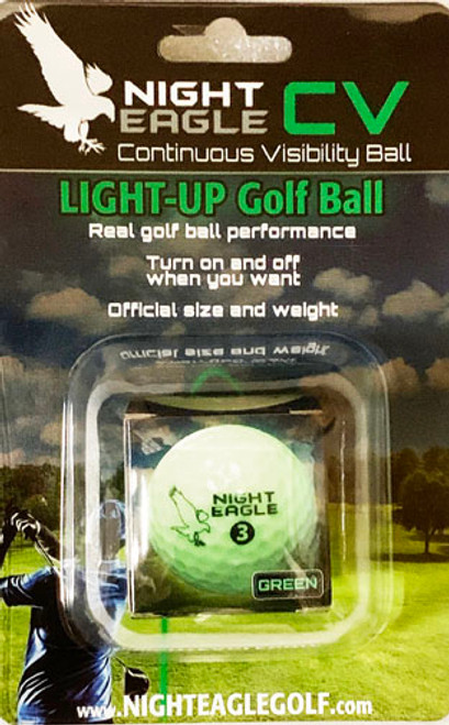 """""""Night Eagle CV"""", Night golf ball. Turn on-off when you want. Single pack."""