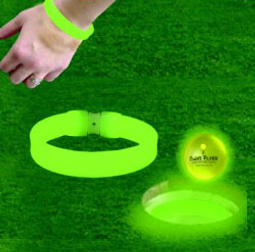 Cup or Wrist, Glow ring, Put it in the cup as an aiming point. Wear it for safety.