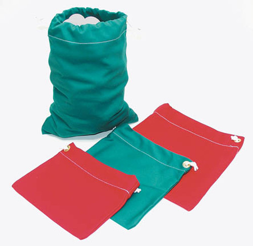 Cotton Range Bags,  Warm-Up Size Holds 30 Balls,  Red or Green
