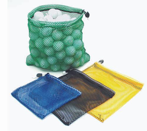 Nylon Mesh Range Bags, Large Hold 100 Balls, Green, Yellow, Blue, Black