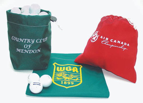 Imprinted Cotton Range Bags, Your Logo or Club Name, Red or Green