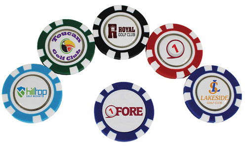 Poker Chips, Plastic With Ball Marker, 100 Piece Minimum