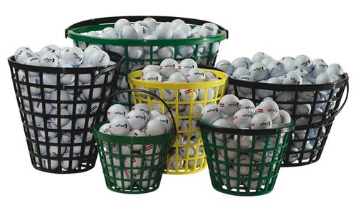 Driving Range Basket, Tough Polyethylene, Medium Size, 70-75 Balls