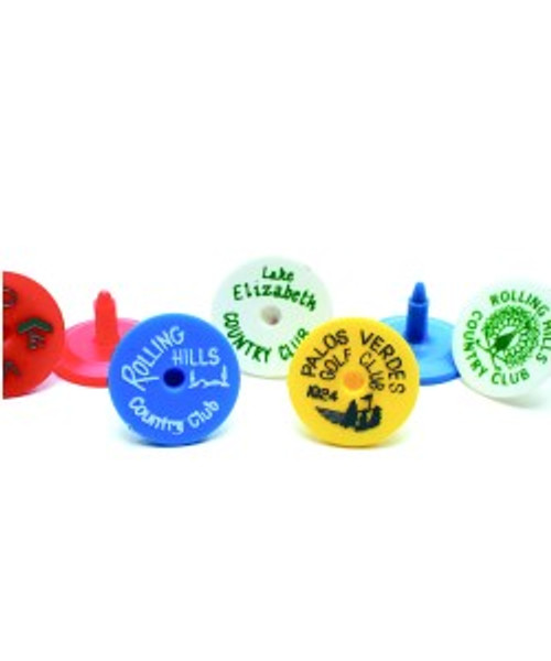 """""""Mark a Ball"""" Markers, Dime Size, Printed, 1,000 Min,  Choose color or mixed."""