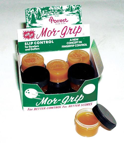 """Mor-Grip"" Absorbs moisture on fingers for a non-slip grip. Box of 12 Jars."