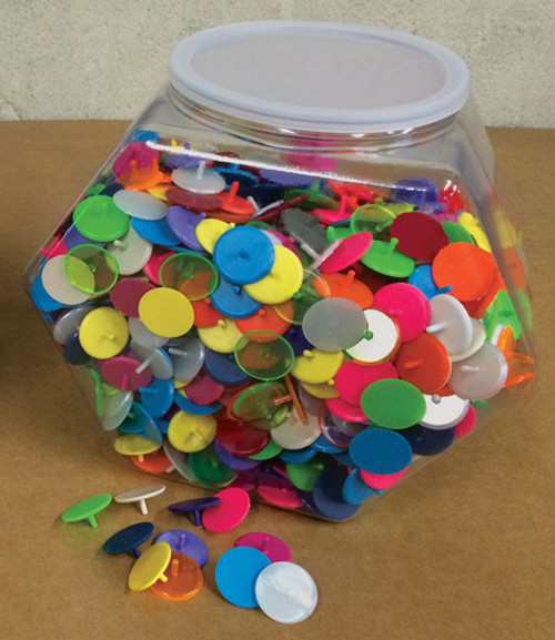 Ball Markers, Quarter Size, 1,000 Bowl, Plastic, Assorted Colors