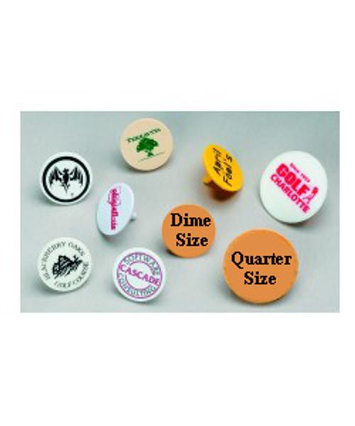 Ball Markers, Printed, Dime Size, Price per 1,000, Choose logo, printing, colors, etc.