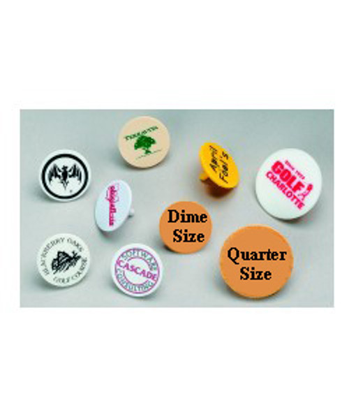 Ball Markers, Printed, Quarter Size, Price Per 1,000, Plastic, Logo, Printing, Colors, Etc.