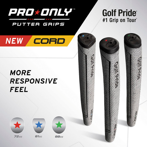 """Golf Pride """"Pro Only Cord"""" Putter Grips, 3 Sizes And Shapes To Choose From"""