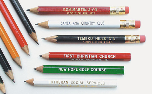 Pencils, Printed, With Erasers, 15 Box Minimum (144 Pencils Per Box), Your Choice Of Colors, Call
