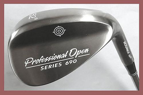 """Professional Open"" Wedges,  Great Wedge Low Price, A Best Seller, 52, 56, 60,64 Degree Lofts, Steel Shaft, Velvet Style Grip"