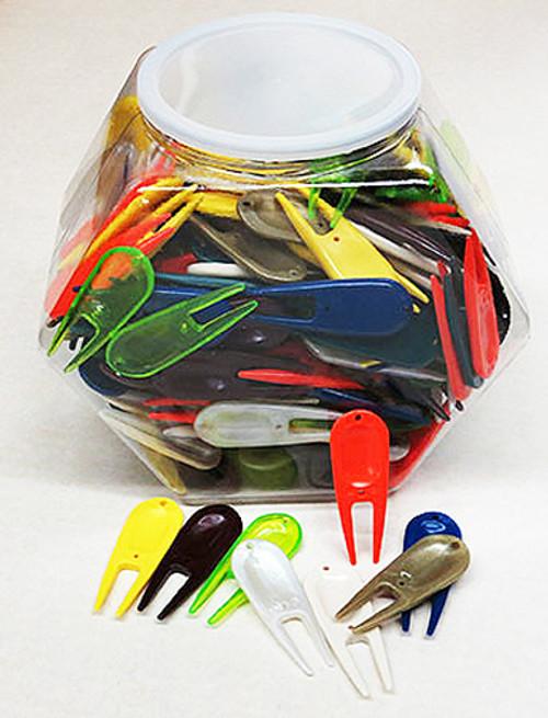 Divot Tool Bowl, 250 Plastic Divot Tools, $.18 Each, Asst. Colors