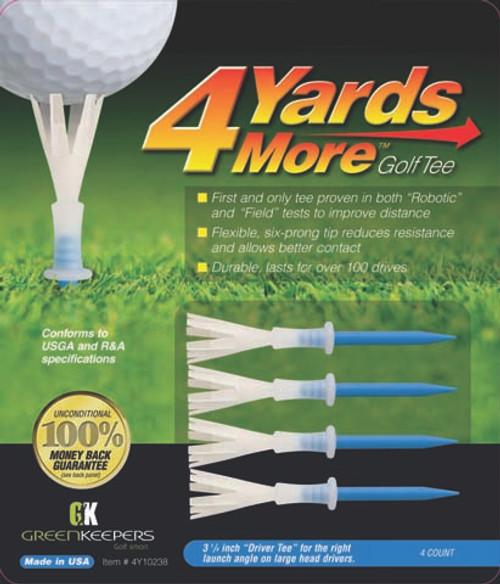 """""""4 Yards More"""" Tees,  Packs of 4 tees, Lengths: 1 3/4"""", 2 3/4"""", 3 1/4"""" or 4"""""""