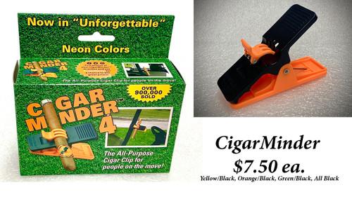"""CigarMinder"", Colors: All Black, Yellow/Black, Orange/Black, Green/Black"