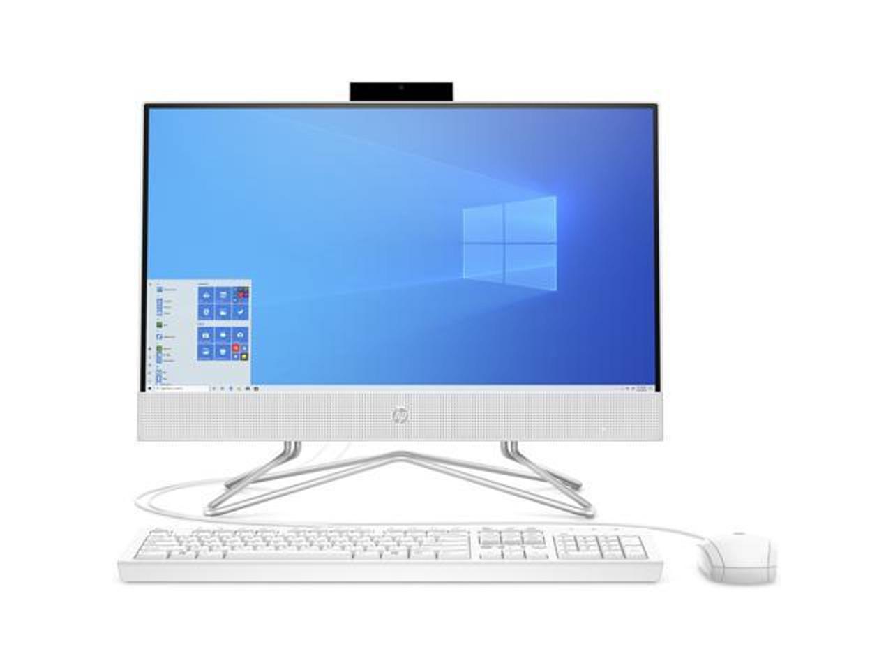 HP 22-inch All-in-One Desktop Computer, AMD Athlon Silver 3050U Processor, 4 GB RAM, 256 GB SSD
