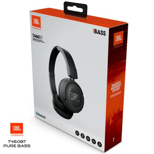 JBL T460BT Wireless On-ear Bluetooth Headphones - Black