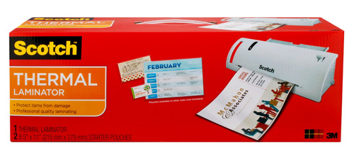 """Scotch Thermal Laminator with 2 Starter Pouches 8.5"""" x 11"""""""