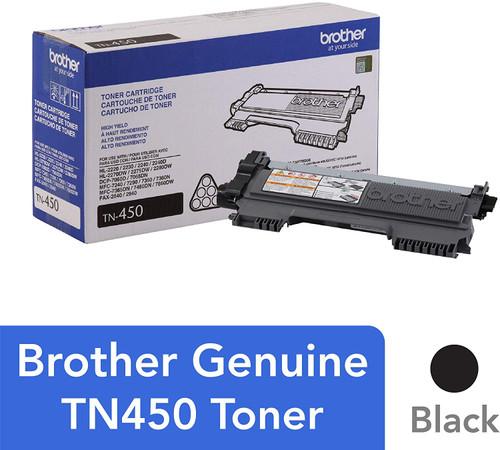 BROTHER TN-450 BLACK HIGH YIELD TONER CARTRIDGE
