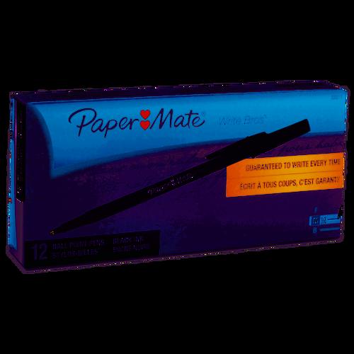 Paper Mate® Write Bros Stick Medium Ballpoint Pen Black Ink 12 Count 1mm Pens