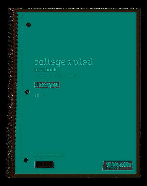 """Just Basics Spiral Notebook 7-1/2"""" x 10-1/2"""